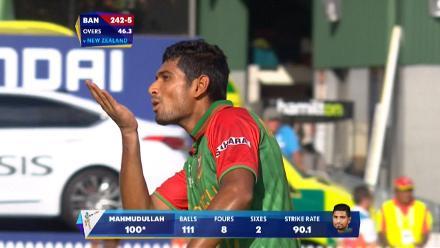 CWC15 BAN vs NZ - Bangladesh innings highlights