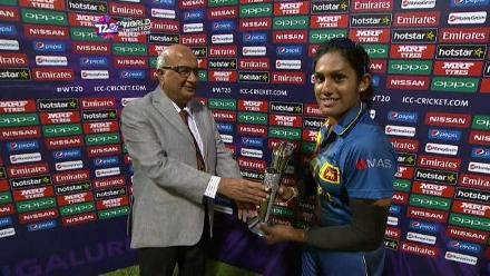 Player of the Match – Chamari Atapattu  – SA v SL