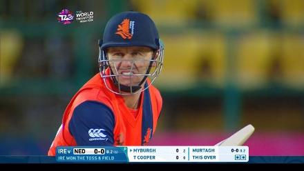 Stephan Myburgh Match Hero for Netherlands v IRE ICC WT20 2016