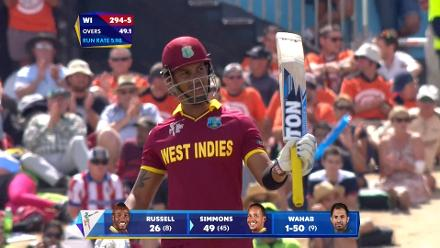 CWC15 WI v PAK - West Indies innings highlights