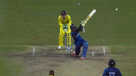 CWC15 AUS vs SL - Sri Lanka innings highlights