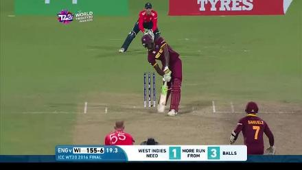 Bishop & Bumble commentate on the final 4 balls of #WT20!
