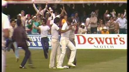 India wins the ICC Cricket World 1983, beating favorites, West Indies