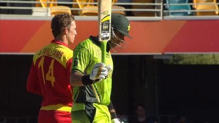 CWC15 PAK vs ZIM - Pakistan innings highlights