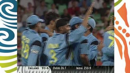 Nehra's 6 for 23 against England in 2003 World Cup