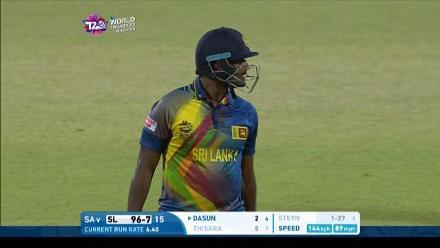 Thisara Perera Wicket Fall SL V SA Video ICC WT20 2016