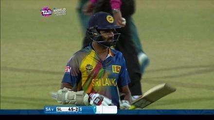 Lahiru Thirimanne Wicket Fall SL V SA Video ICC WT20 2016