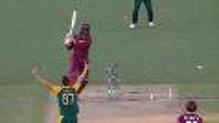 CWC15 SA vs WI - West Indies innings highlights
