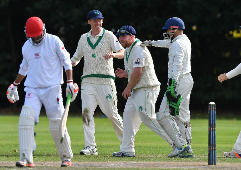 Ireland and Hong Kong competing in the ICC ICup