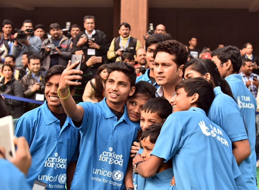 Sachin Tendulkar is a UNICEF Goodwill Ambassador