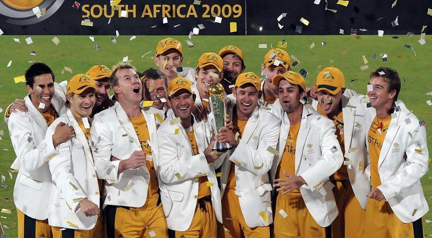 Australia celebrate ICC Champions Trophy 2009 win