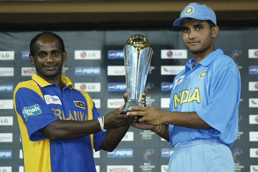 Joint winners of the ICC Champions Trophy 2002, India and Sri Lanka
