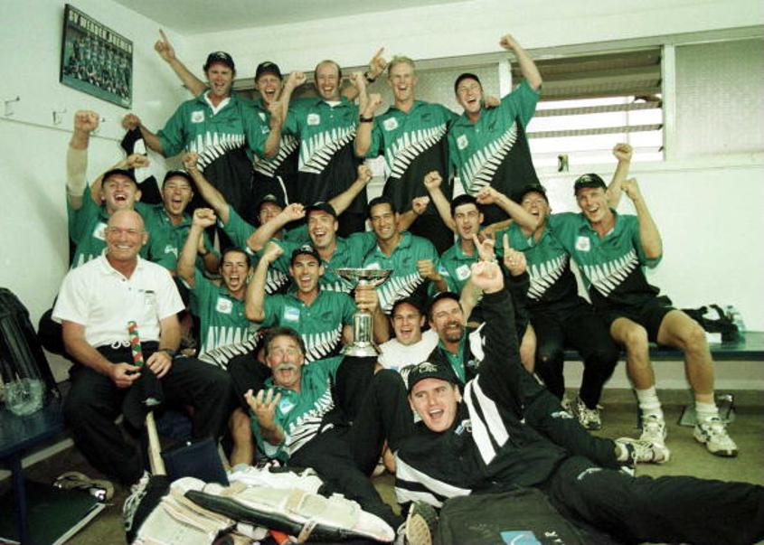 New Zealand winning the ICC Knock-Out Trophy 2000