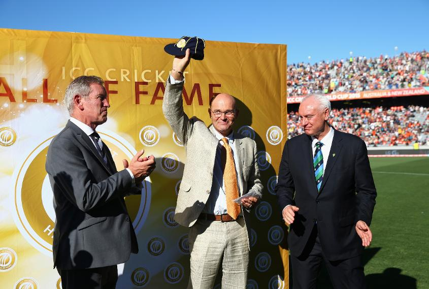 Martin Crowe is inducted into the ICC Cricket Hall of Fame in 2015