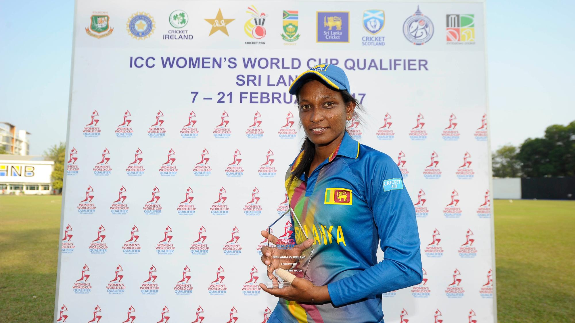 World Cup Qualifiers 2017 Priyadarshani Fernando Picked Up The Man Of Match Award For Her Figures Three