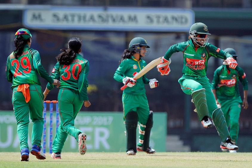 Bangladesh, who began with promise, paid the price for flagging spirits, sloppy fielding and the frequent loose ball.