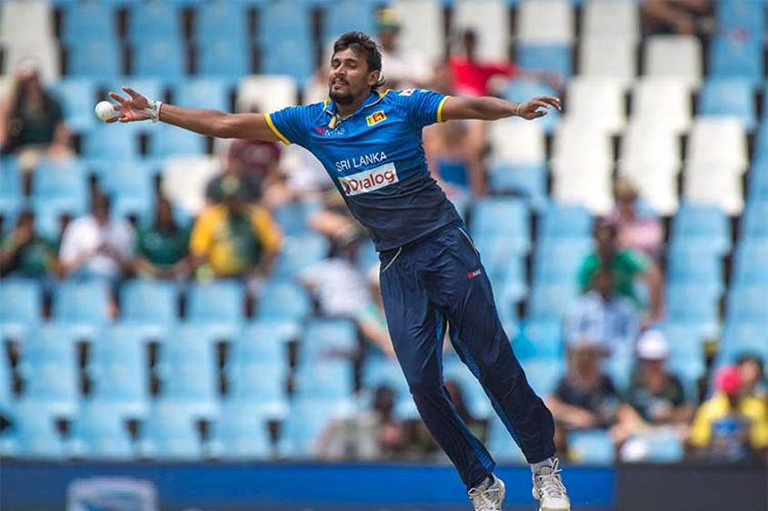 Suranga Lakmal was the pick of the Sri Lankan bowlers with three wickets