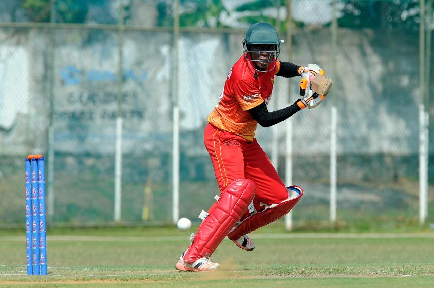 Mary-Anne Musonodo top scored with 35, as Zimbabwe posted 191 for 8 in 50 overs