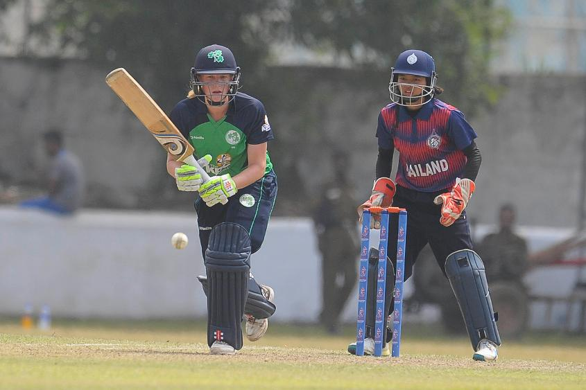 Ireland Women beat Thailand Women by 46 runs in a Group A clash of the Women's World Cup Qualifiers 2017