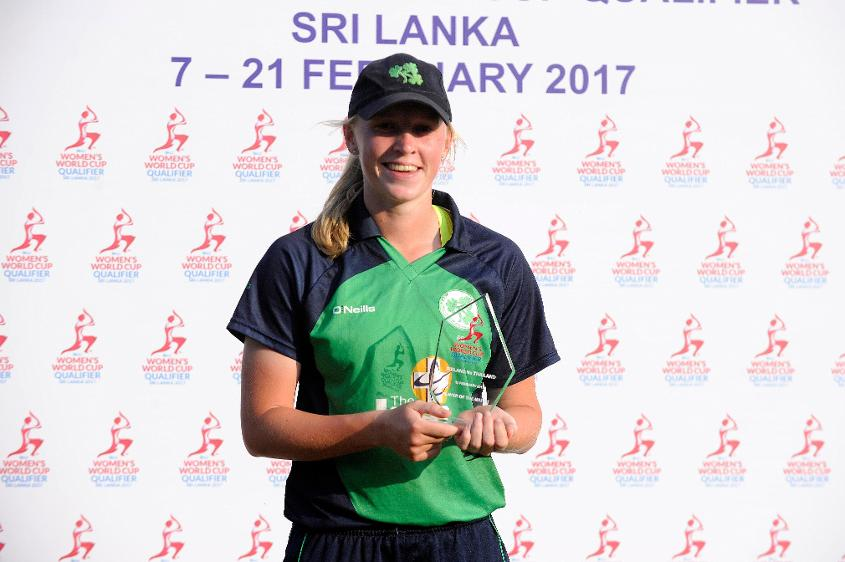 All-rounder Kim Garth missed out on a century as she was run out off the penultimate ball of the innings for 98 with nine fours and one six.