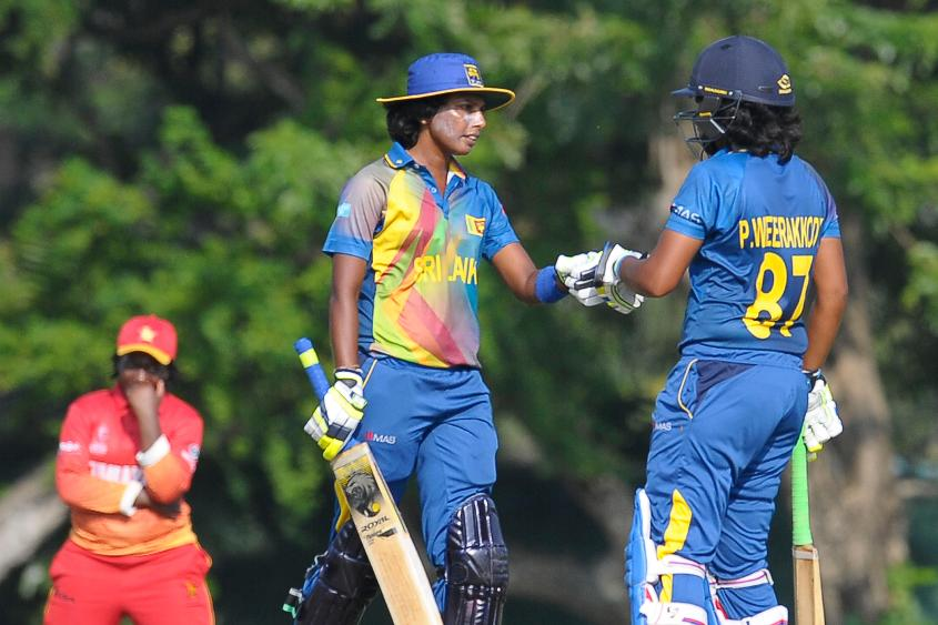Sri Lanka completed its second win in three matches, a convincing eight-wicket win over Zimbabwe.