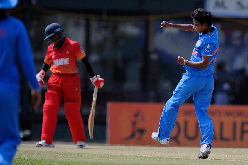Poonam Yadav was the pick of the bowlers with figures of 5 for 19 and marshalling the Indian bowling to restrict Zimbabwe to 60 all out.