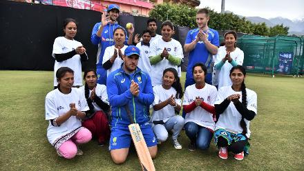 Australias Cricket for Good clinic in Dharamsala