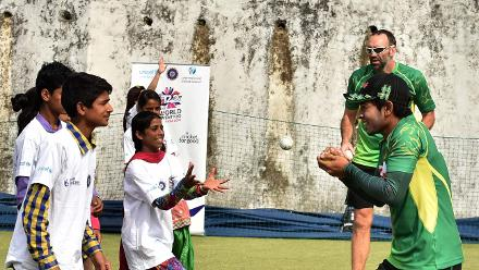 Mushfiqur Rahim shows off his safe hands at Bangladeshs Cricket for Good clinic