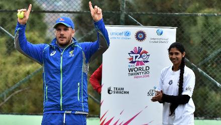 Aaron Finch signals Six in Dharamsala