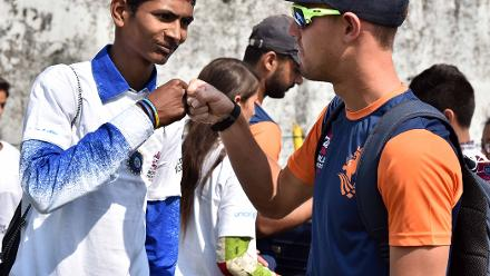 Respect at the Netherlands Cricket for Good clinic at WT20
