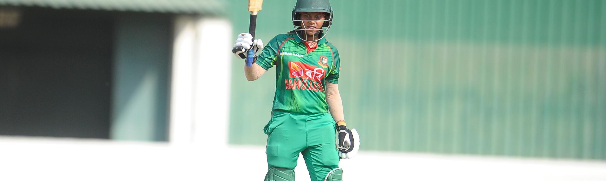Sharmin Akhter scored 52 off 86 balls as Bangladesh Women chased the 145-run target in 39.1 overs