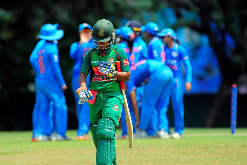 Bangladesh was restricted to 155 for 8 in 50 overs.