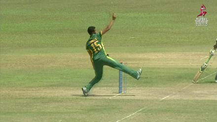 Ayabonga Khaka juggles to take a nice catch for South Africa