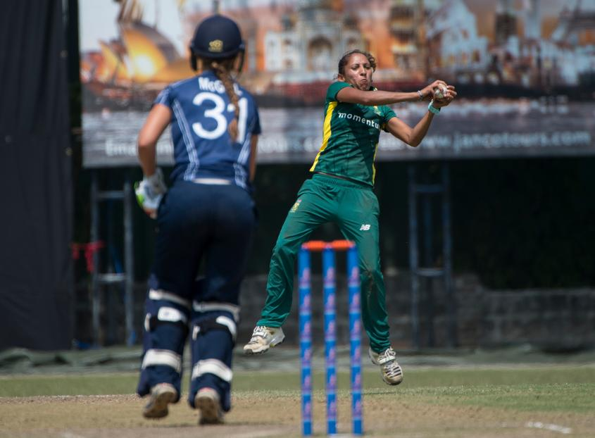 Shabnim Ismail has a slight figure, but she bowls 'fiery' deliveries.