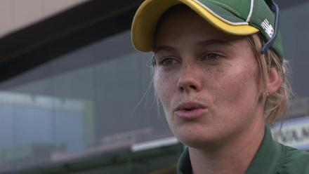 Dane Van Niekerk interview after her side lost a thrilling final to India