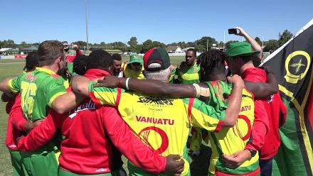 Vanuatu celebrations as they seal qualification to ICC World Cricket League Division 5