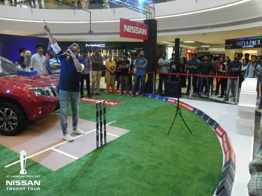 ICC CT17 Nissan trophy tour Bengaluru activation