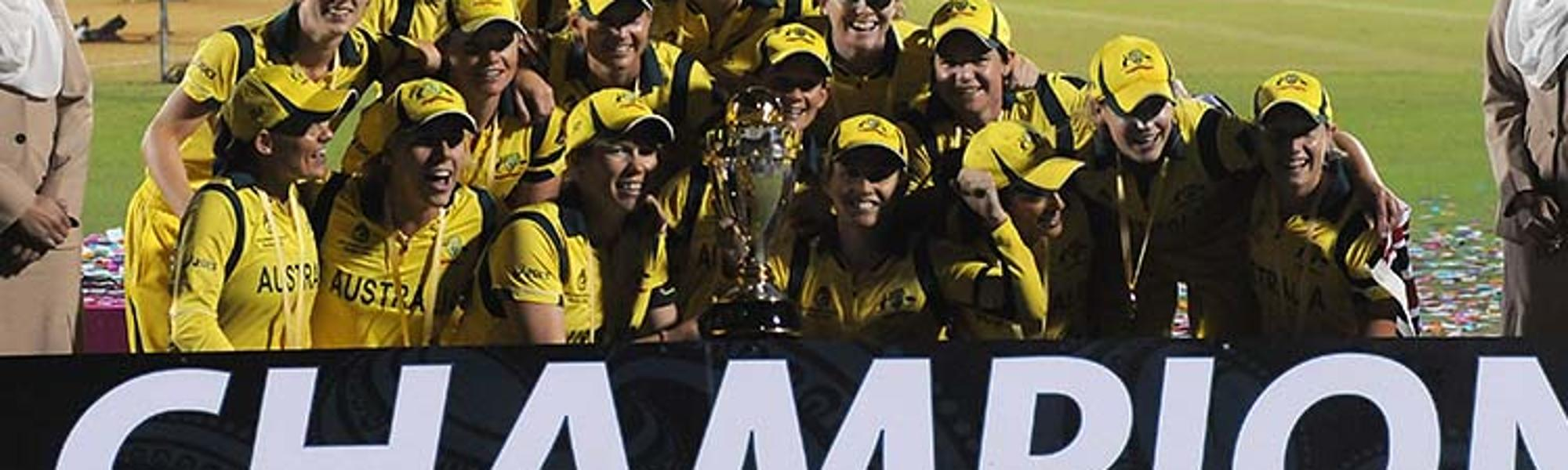 Australia Women winning the 2013 World Cup