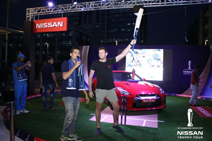 ICC CT17 Nissan trophy tour Delhi activation