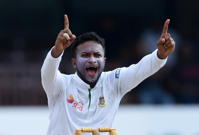 Shakib Al Hasan led the charge for Bangladesh by picking up three wickets which included the key wicket of Dimuth Karunaratne