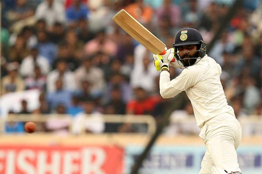 Ravindra Jadeja smashed a quickfire half-century off 51 balls and remained not out on 54