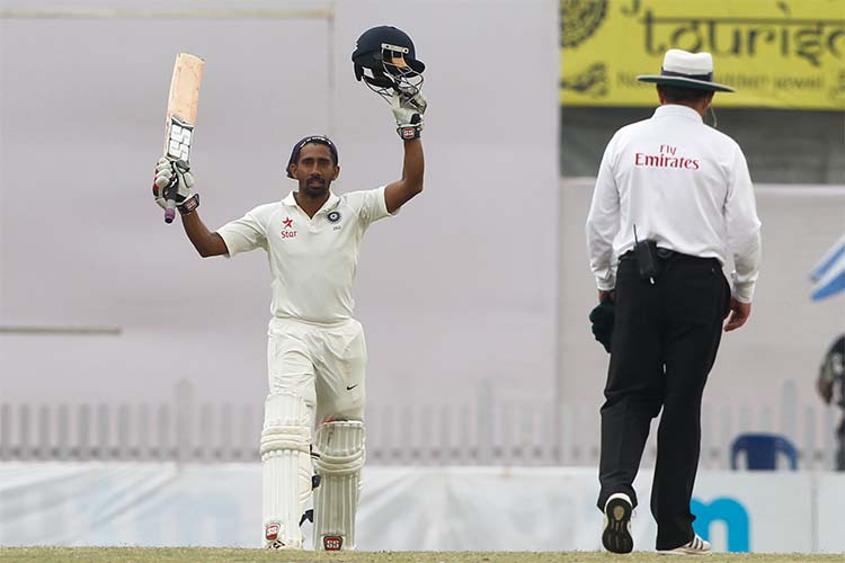Wriddhiman Saha reached his third Test century in 214 balls