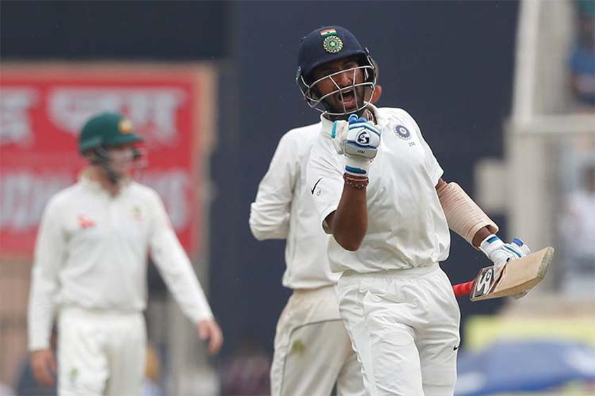This is Pujara's third Test double century and second Test double century against Australia