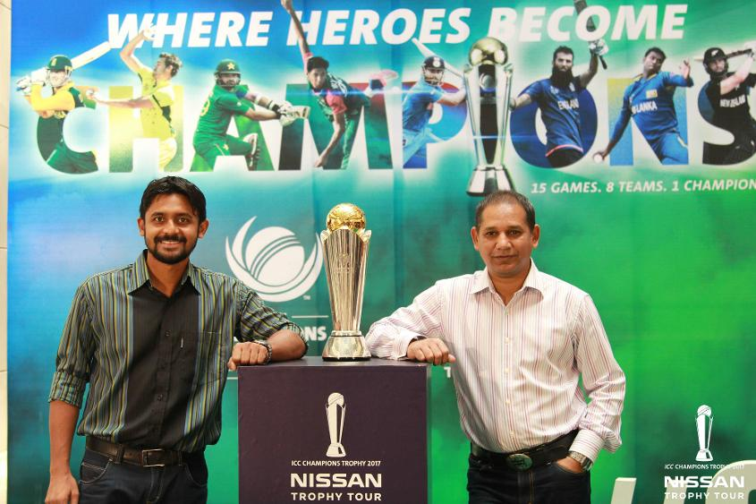 Former Bangladesh captain Habibul Bashar at the ICC Champions Trophy 2017 Nissan Trophy Tour activation in Dhaka