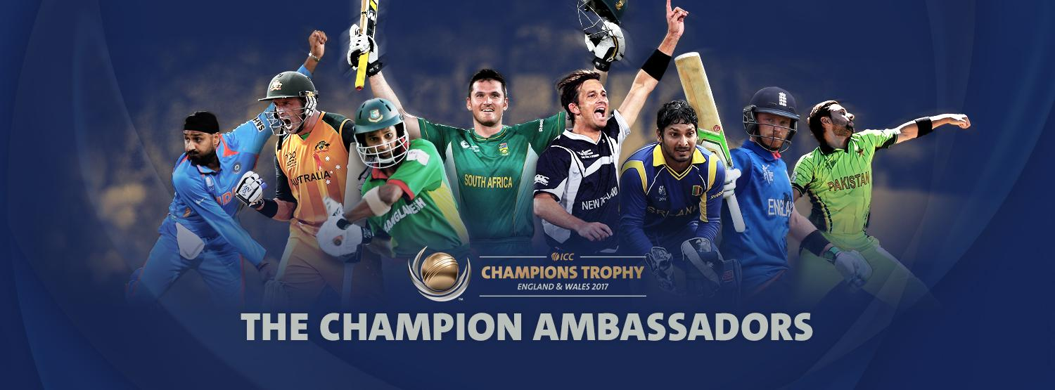 Stellar Line Up As ICC Announces Champions Trophy Ambassadors