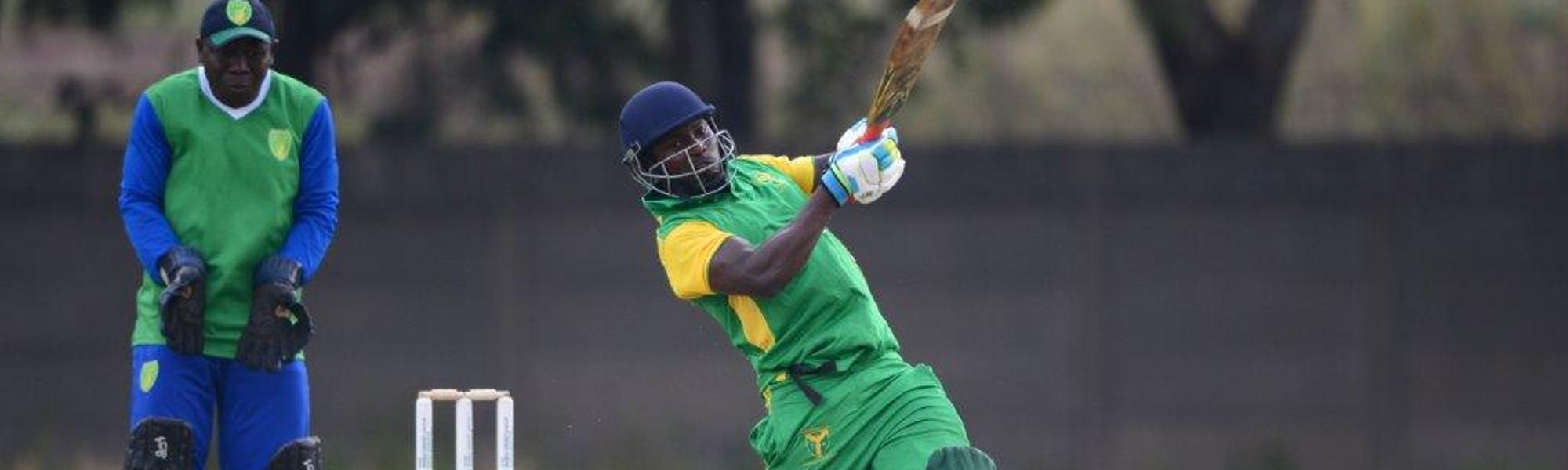Oluseye Olympio in action for Nigeria against Sierra Leone