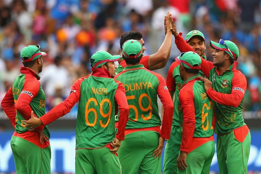 Bangladesh team celebrating