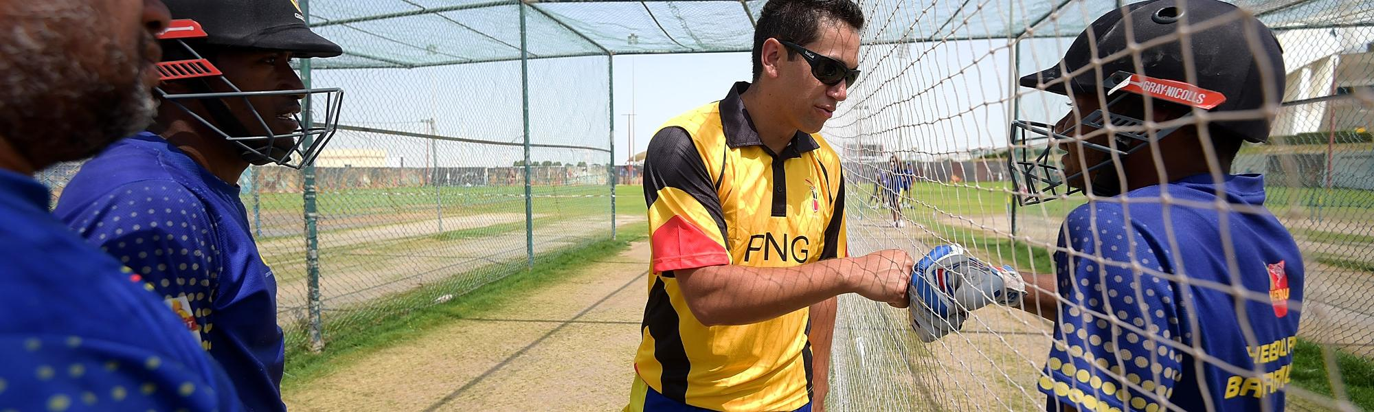 Ross Taylor during the PNG training camp at Abu Dhabi