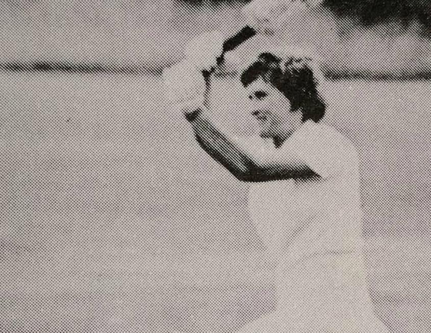 On 23 June 1973 Lynne Thomas scored 134 not out at Hove
