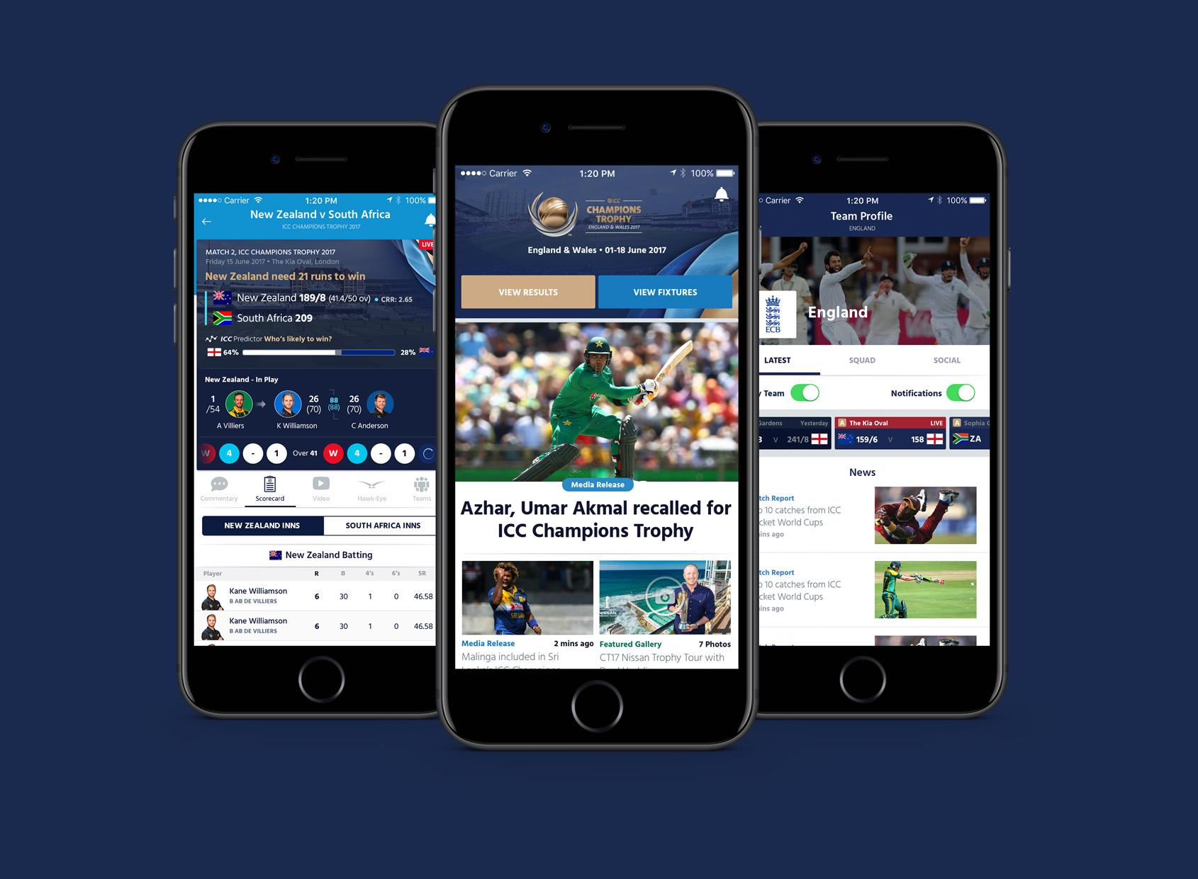 ICC launches new mobile app ahead of Champions Trophy 2017